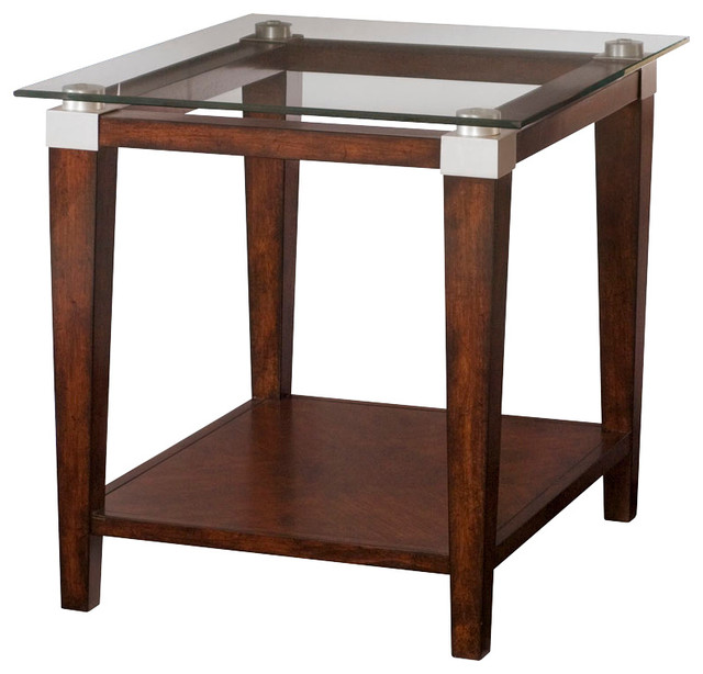Hammary solitaire rectangular end table in rich dark brown traditional side tables and end Traditional coffee tables and end tables