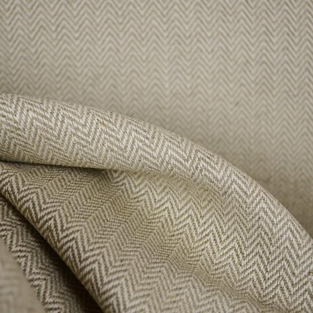 Fraser Island Flax Herringbone Linen Fabric By The Yard