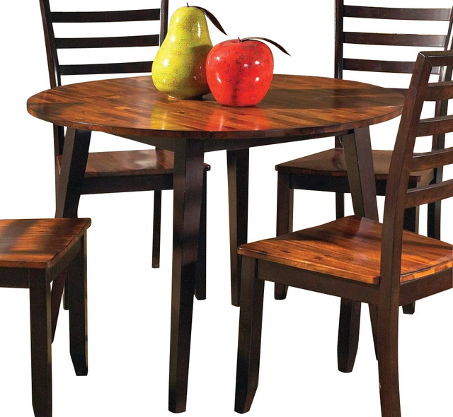 Steve Silver Abaco Double Drop Leaf 42 Inch Round Dining