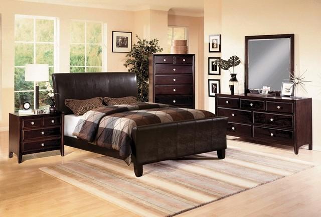 4-PC Tomas Dark Espresso Queen Bedroom Set W