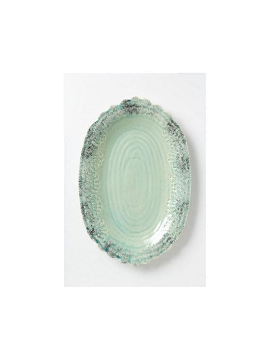 Anthropologie - Old Havana Platter - Stoneware. Dishwasher safe. Portugal
