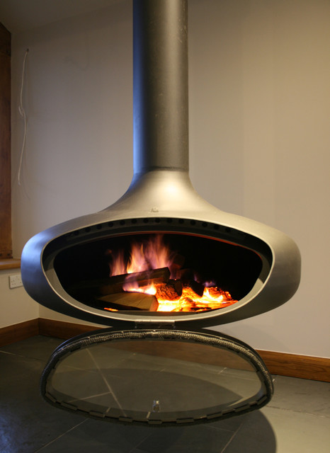 Suspended Stove For Extension In Halifax Uk Contemporary Freestanding Stoves Other Metro