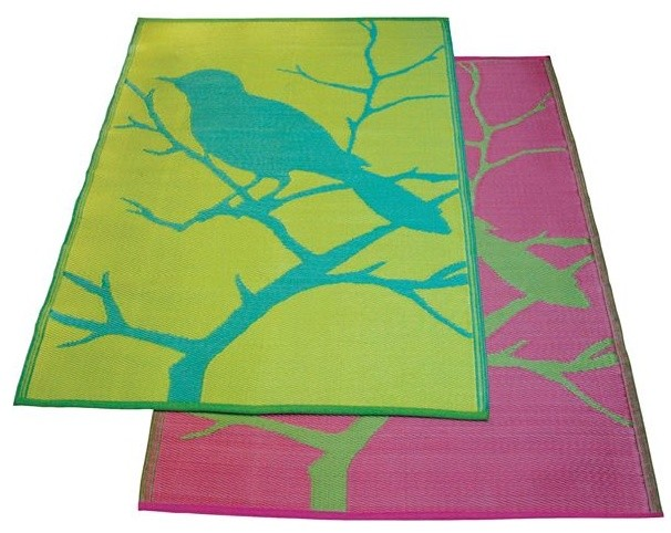 Bird Design Outdoor Plastic Rug - Outdoor Rugs - chicago - by Home ...