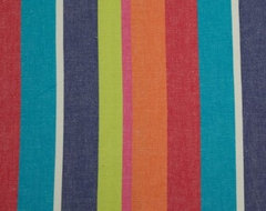 Multi Colour Stripes Curtain Material Fabric modern-upholstery-fabric