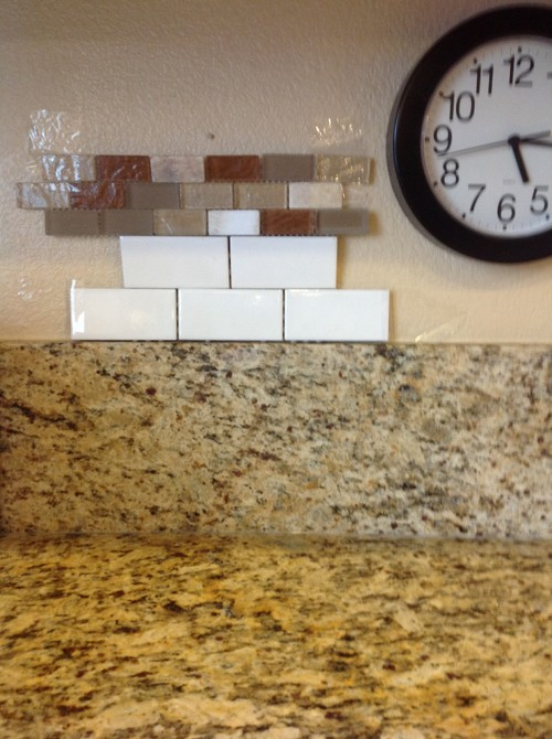 "Remove 6"" granite backsplash before adding tile?"