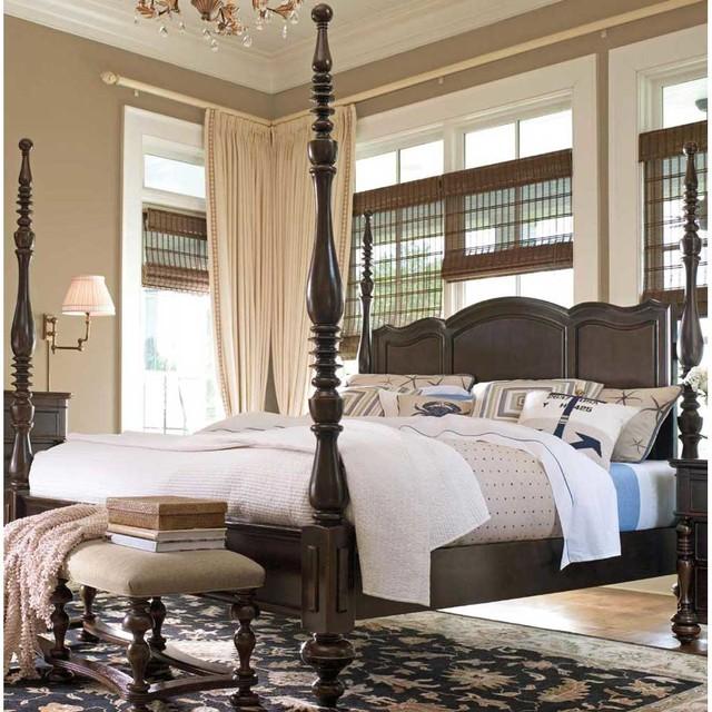 Paula Deen Tobacco Savannah California King Poster Bed Canopy Beds By Carolina Rustica