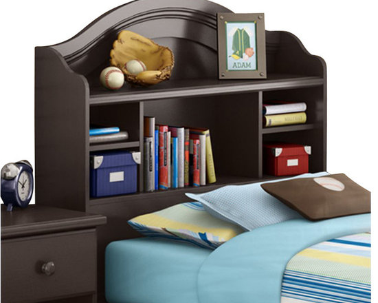 South Shore - South Shore Summer Breeze Twin Bookcase Headboard in Chocolate Finish - South Shore - Headboards - 3219098 - With its chocolate finish and sleek, simple lines, the South Shore Summer Breeze Bookcase Headboard will enhance any kids bedroom. Available in Twin size, this headboard features open compartments and a wire management hole in the back. Add country charm to your kid's bedroom with the Summer Breeze Bookcase Headboard.