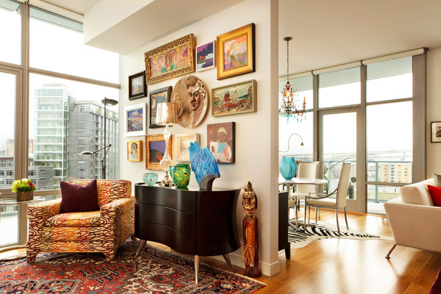 Small space design contemporary portland by garrison for Eclectic interiors