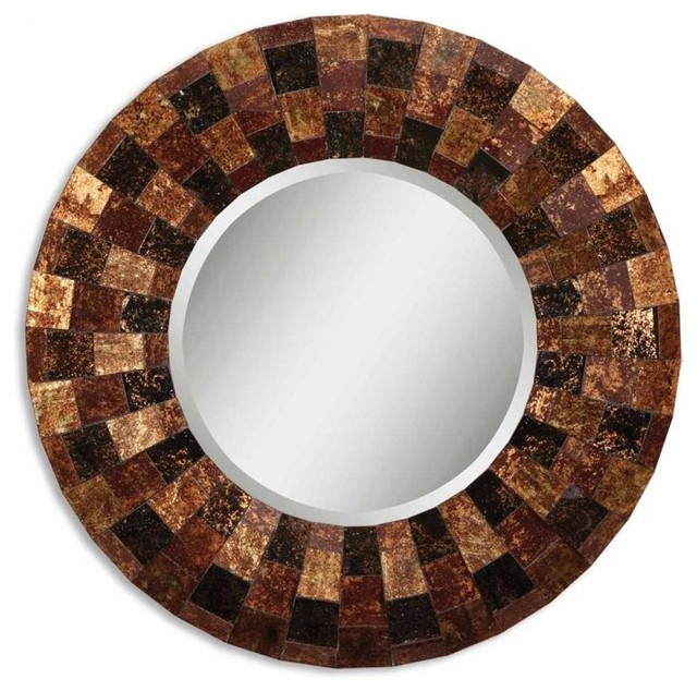 www.essentialsinside.com: arvada round wall mirror contemporary-mirrors