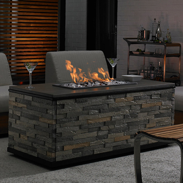 tres chic gas outdoor fire pit patio furniture traditional fire pits