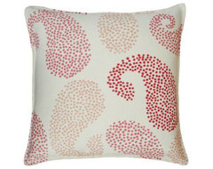 Hable Construction Pink Paisley/Oyster Linen Pillow eclectic pillows