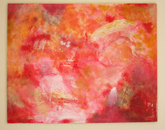 Original Oil Painting Large Abstract in Red by Rossana Novella contemporary-artwork