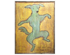 You Make Me So Dog Gone Happy' Reclaimed Wood Wall Art - Extra Large eclectic-artwork