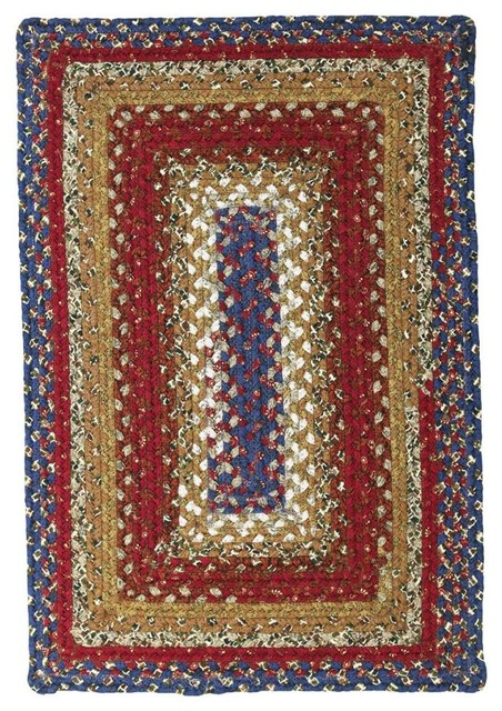 "1 8"" x 2 6"" Log Cabin Step Rug Rectangle farmhouse area rugs"