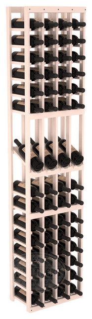 4 Column Display Row Cellar Kit in Pine with White Wash Stain + Satin Finish traditional-wine-racks