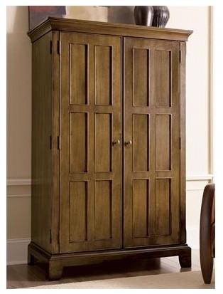 Woodland's Oak Armoire Desk - Modern - Desks And Hutches - by Wayfair