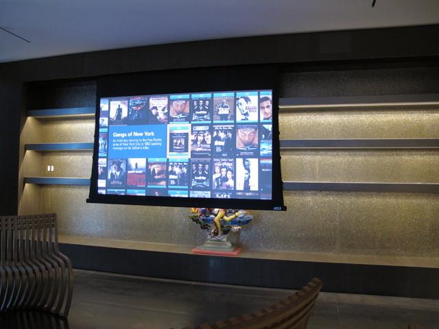Miami Condo contemporary-home-theater