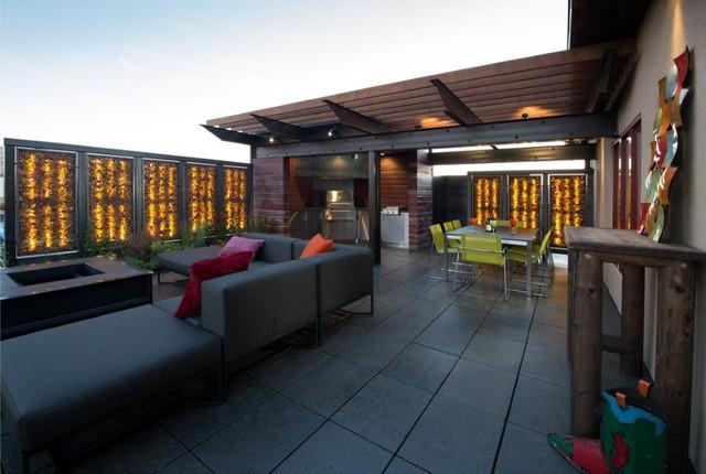 Outdoor Kitchen - Fargo, ND contemporary-patio