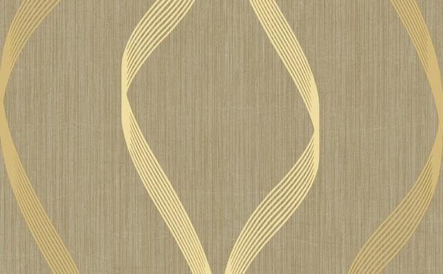 Raised Print Swirl Wallpaper, Beige, Tan, and Grey - Contemporary ...