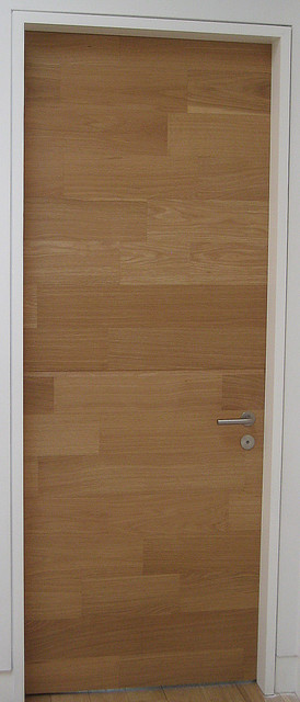 "Modern Doors - Custom White Oak ""Sketch-Face Veneer"" Flush Door modern-interior-doors"