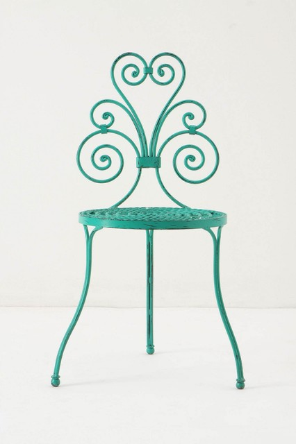 Le Versha Chair, Turquoise eclectic outdoor chairs