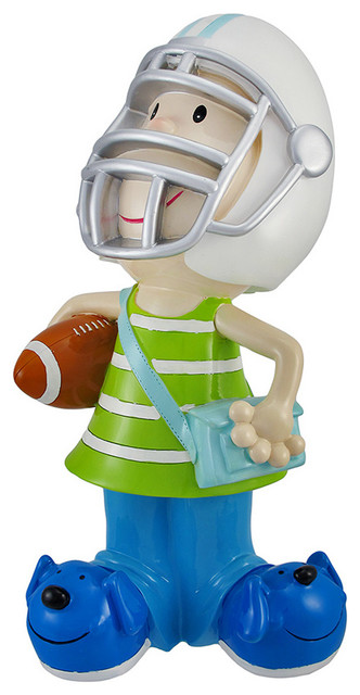 Football Players Toys For Toddlers : Child football player with helmet jumbo coin bank