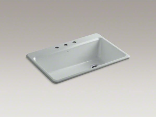 "KOHLER Riverby(R) 33"" x 22"" x 9-5/8"" top-mount single-bowl  kitchen sink with ac contemporary-kitchen-sinks"