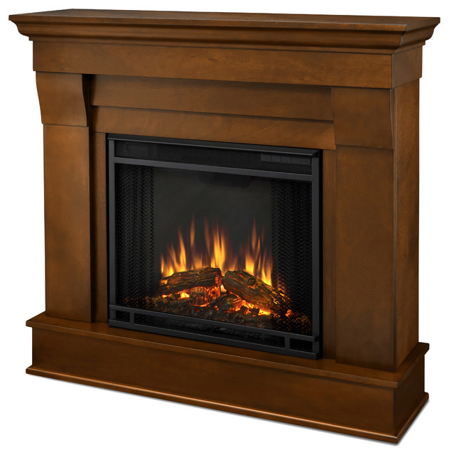 Real Flame Espresso Chateau Electric Fireplace contemporary-indoor-fireplaces