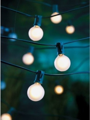 Room Essentials Frosted Globe Lights contemporary outdoor lighting