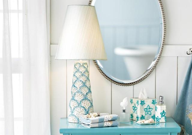 Shell Mosaic Lamp tropical-table-lamps