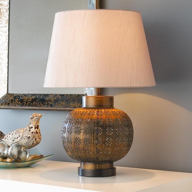 Moroccan Wall Lamp Shades : Moroccan Filigree Ball Table Lamp - Lamp Shades - by Shades of Light