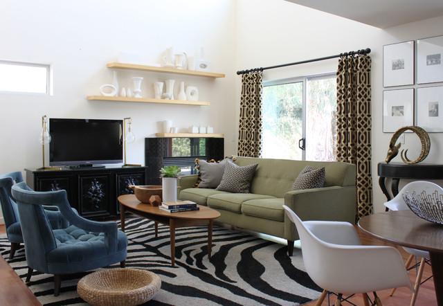 loft living, costa mesa eclectic-family-room