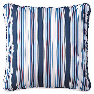 "15"" Throw Pillow 15""Sq.x6"" - Nautical Stripe contemporary-outdoor-cushions-and-pillows"