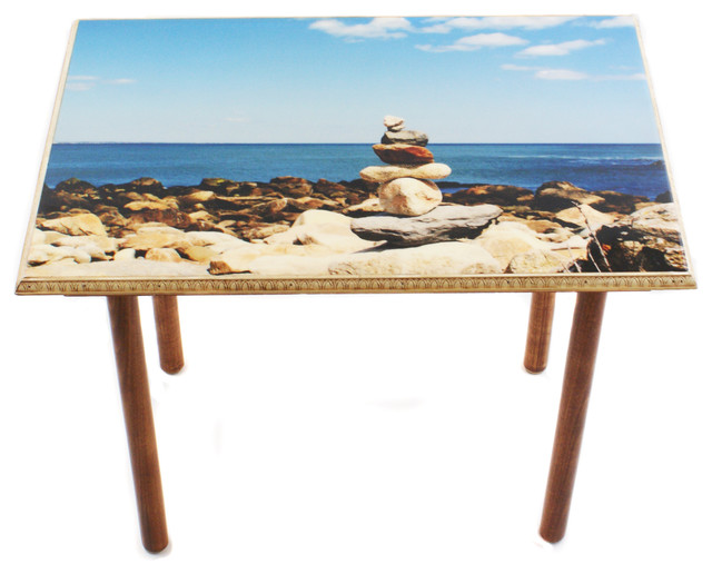 Narragansett Zen Table/Wall Art beach-style-side-tables-and-end-tables