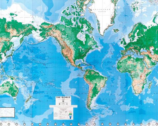 World Map Wall Mural -