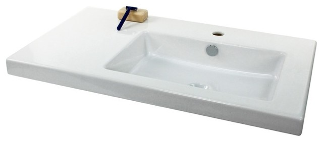 Wall Mount Sink No Faucet Hole : Wall Mounted, Vessel, or Built-In White Ceramic Sink, No Faucet Hole ...