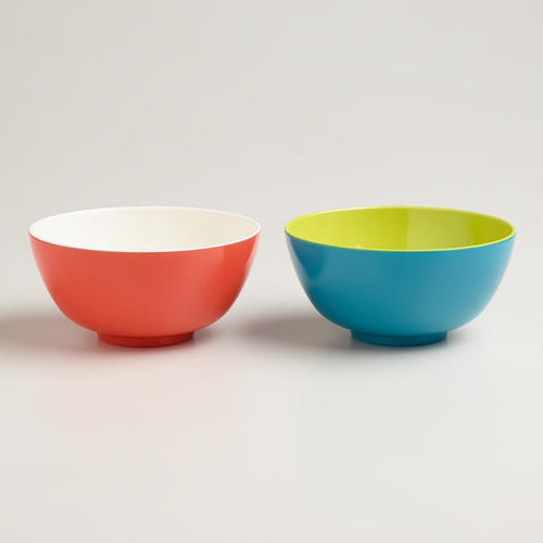 Two Tone Bowls Modern Dining Bowls By Cost Plus