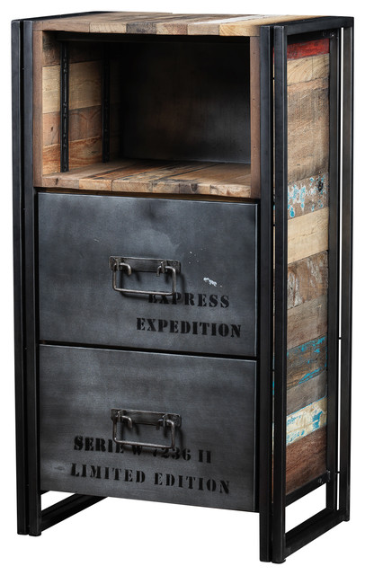 Dresser Made of Recycled Boat Wood and Industrial Metal - Industrial - Storage Cabinets - by ...