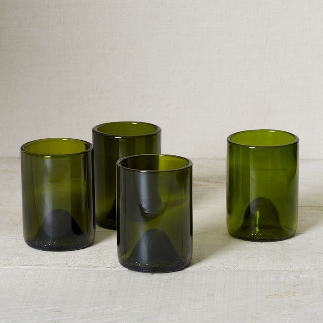 Recycled Wine Punt Glassware contemporary-everyday-glassware