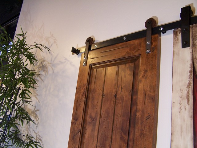 Nylon Barn Door Hardware modern-barn-door-hardware
