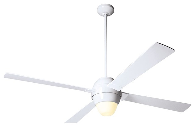 56 modern fan gusto white ceiling fan with light kit contemporary ceiling fans by euro - Modern white ceiling fan ...