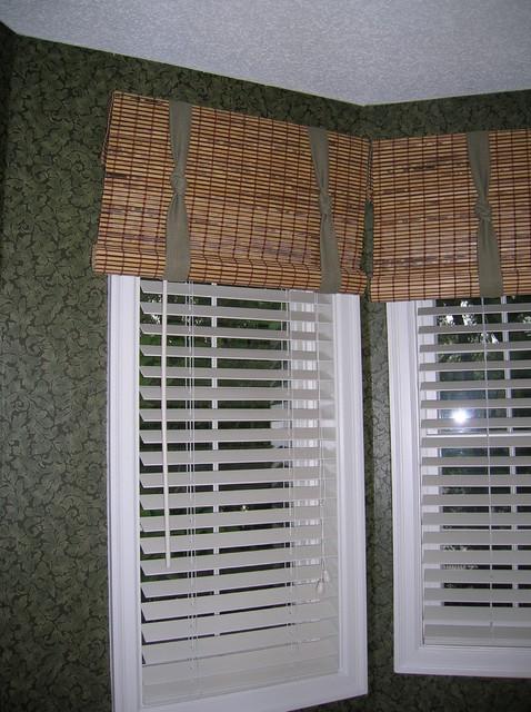 Wood Valances Window Treatments : Wood window treatments grasscloth wallpaper