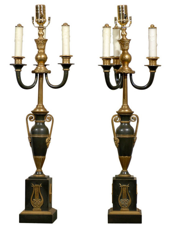 Current Inventory for Purchase - Pair of Empire Lamps