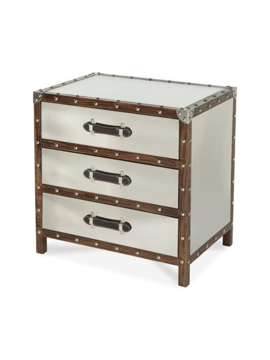 AICO Furniture - Discoveries Trunk 3-Drawer Chest - ACF-TNK-CHST3-04 - Discoveries Collection Chest