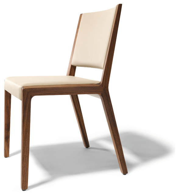 Eviva contemporary walnut chair modern dining chairs for Dining designer chairs