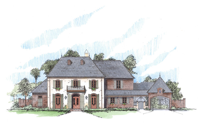 Random Projects traditional-exterior-elevation