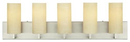 Cambria Satin Nickel Five-Light Bath Light contemporary-bathroom-lighting-and-vanity-lighting