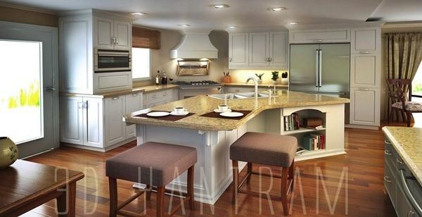 3d kitchen Interior Design Portland modern-rendering