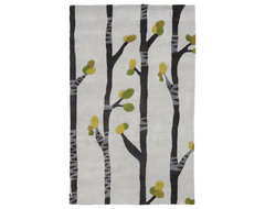 Birch, Hand-Tufted Wool Rug contemporary-rugs