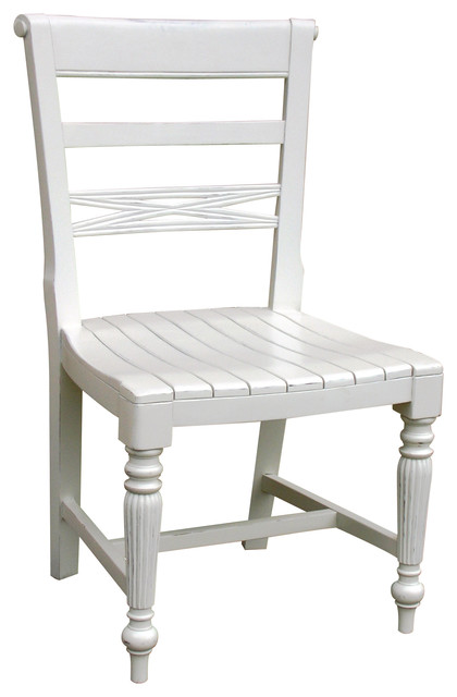 Chair, White  Farmhouse  Dining Chairs  by Custom Furniture World